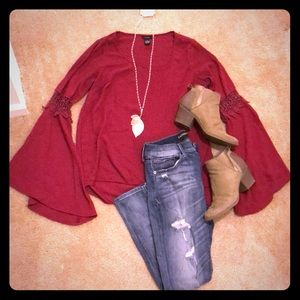Berry Bell Sleeved Blouse